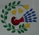 Close up of the original quilt.