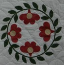 Close up of the reproduction quilt.