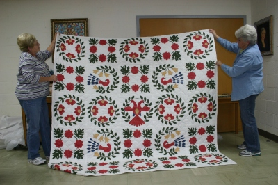 Reproduction of the Pennsylvania Dutch Bridal Quilt