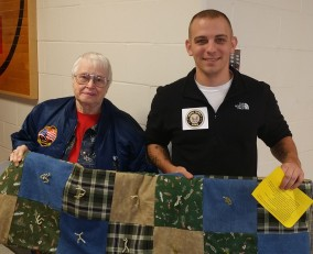 Kathy East with one of our Veterans from La Plata, Missouri.