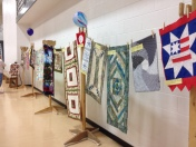 The Small Art Quilt display.