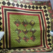 Gorgeous quilt made by Rose Marie.