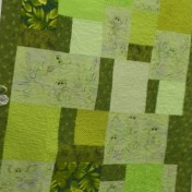 "Kay's ""Frogs"" quilt for her grandchild."