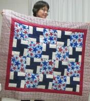 Great veteran's Quilt by Susan Guffey.