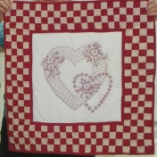 Lovely redwork by Meredith.