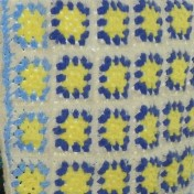 Pretty afghan made by Meredith.