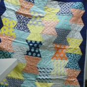 Baby quilt made by Stephanie Hettinger.