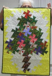 """Mary Shoaff's finished """"Twister Tree"""". Last month she showed the panel before the """"twister"""" part was done."""
