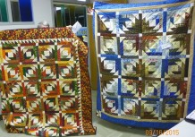 "Two of four versions of ""Pineapple Blossom"": (L-R) Mary Magruder and Cathy Poyner."