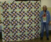 """(Show & Share) """"Grand Illusion"""" made by Linda Kowalski--2014 BH Mystery quilt"""