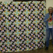 "(Show & Share) ""Grand Illusion"" made by Linda Kowalski--2014 BH Mystery quilt"