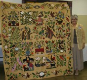 (Show & Share) Gorgeous sampler made by Kathy Krog
