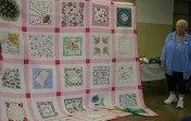 """(Show & Share) """"Hankie Quilt"""" made by Kathy East"""