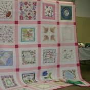 "(Show & Share) ""Hankie Quilt"" made by Kathy East"