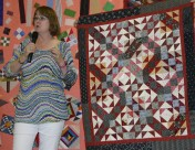 """(Trunk Show, quilt made by Bonnie) """"Playing with Jacks"""", by Bonnie--free pattern--Thursday workshop"""