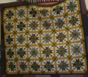 "(Trunk Show, quilt made by Bonnie) ""Jared Takes a Wife""--free pattern--Friday workshop."