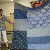 (Trunk Show, quilt made by Bonnie) Even the backs are fun!
