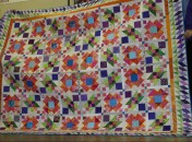 """(Trunk Show, quilt made by Bonnie) """"Lazy Sunday""""--mystery quilt"""