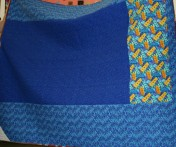 (Trunk Show, quilt made by Bonnie) Look at the 2000 fabric!