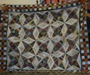 """(Trunk Show, quilt made by Bonnie) """"Virginia Bound"""" by Bonnie, from Scraps and Shirttails"""
