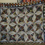 "(Trunk Show, quilt made by Bonnie) ""Virginia Bound"" by Bonnie, from Scraps and Shirttails"