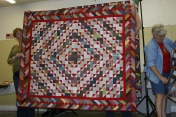 """(Trunk Show, quilt made by Bonnie) """"Bricks in the Barnyard"""" by Bonnie, from """"Scraps and Shirttails II"""