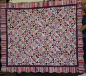 "(Trunk Show, quilt made by Bonnie) ""Zuckerwatte"", from her String Fling book."