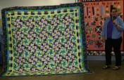 """(Show & Share) """"Grand Illusion"""", 2014 Mystery Quilt"""", made by Andrea OBrien."""