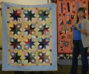 "(Show & Share) ""Boxy Stars"", made by Cindy Spearman."