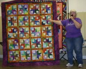 "(Show & Share) ""Boxy Stars"", made by Peggy Clark."