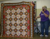 """(Show & Share) """"Double Delight"""", the December 2008 mystery quilt, made by Peggy Clark."""