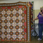 "(Show & Share) ""Double Delight"", the December 2008 mystery quilt, made by Peggy Clark."