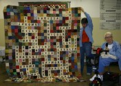 """(Show & Share) """"Family Crossword Puzzle"""" quilt made by Susan Bell."""