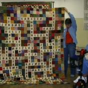"(Show & Share) ""Family Crossword Puzzle"" quilt made by Susan Bell."