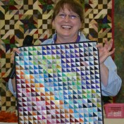 (Show & Share) Tiny triangles, made by Barb Bevell
