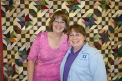 Bonnie Hunter and Barb Bevell.