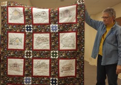 Look at these wonderful barns on Marilyn Peck's quilt!