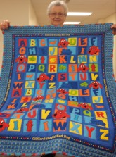 "Oooh, can you spot all of the cute ""extras"" in Meredith's ABC quilt?"