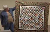 Rose Marie shares her Triangle Challenge quilt.