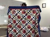 "Susan's Veteran's quilt, ""Texas Tumbleweed""."