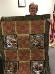 Joan Harrison's Wildlife quilt.