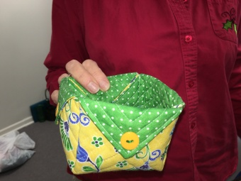 Liz shares one of her fabric boxes.