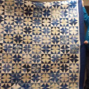Alice quilted a top that Jean Nevins had made.