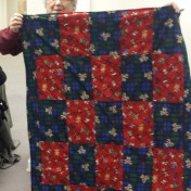 Meredith made this cute bear quilt for Project Linus, too.