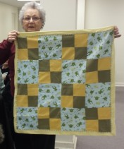 Meredith made this frog quilt for Project Linus.
