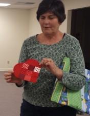 Liz Mills shared her Valentine Mug Rug.