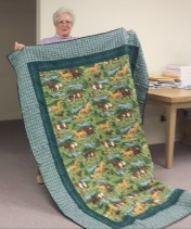 This quilt with horses was made by Mary, too.