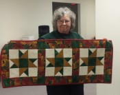 "Beverly Compton made this striking ""star"" table runner."