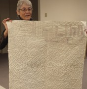 Linda Kowalski tells us about this practice piece sewn on a longarm in Des Moines.