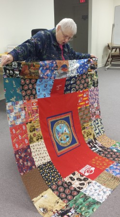 Look at all those fun blocks! Kathy personalizes each quilt.